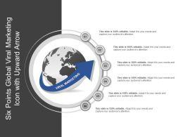 Six Points Global Viral Marketing Icon With Upward Arrow