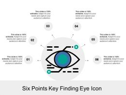 Six Points Key Finding Eye Icon