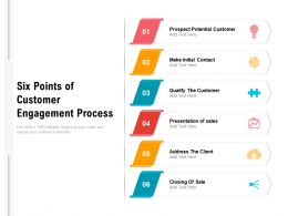Six Points Of Customer Engagement Process