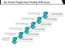 Six Points Project Key Finding With Icons