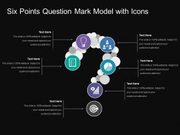 Six Points Question Mark Model With Icons
