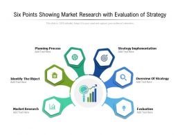 Six Points Showing Market Research With Evaluation Of Strategy