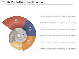 Six Points Spiral Shell Graphic