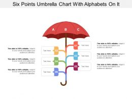 Six Points Umbrella Chart With Alphabets On It