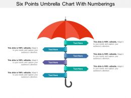 Six Points Umbrella Chart With Numberings