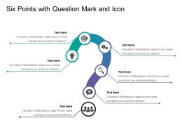 Six Points With Question Mark And Icon