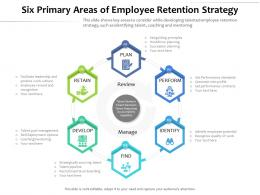 Six Primary Areas Of Employee Retention Strategy