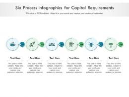 Six Process For Capital Requirements Infographic Template