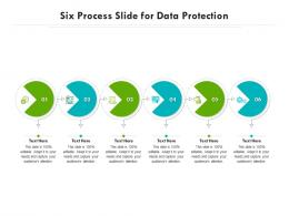 Six Process Slide For Data Protection Infographic Template
