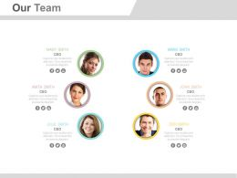 Six Professionals For Team Layout Powerpoint Slide