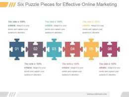 Six Puzzle Pieces For Effective Online Marketing Ppt Slides