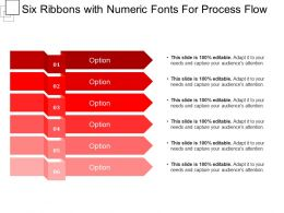 Six Ribbons With Numeric Fonts For Process Flow