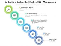 Six Sections Strategy For Effective Utility Management