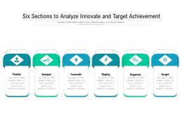 Six Sections To Analyze Innovate And Target Achievement