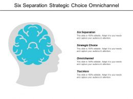 Six Separation Strategic Choice Omnichannel Consumer Market Survey Cpb