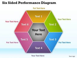 Six Sided Performance Diagram Powerpoint Slides Presentation Diagrams Templates