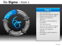 Six Sigma 1 Powerpoint Presentation Slides DB