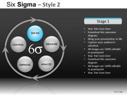 Six Sigma 2 Powerpoint Presentation Slides DB