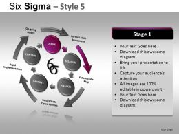 Six Sigma 5 Powerpoint Presentation Slides DB