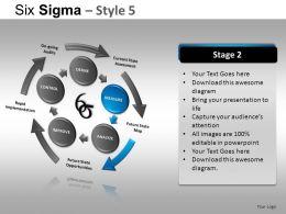 Six Sigma 5 Powerpoint Presentation Slides DB