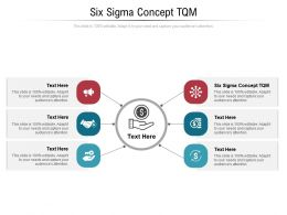 Six Sigma Concept Tqm Ppt Powerpoint Presentation Layouts Objects Cpb