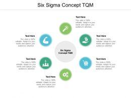 Six Sigma Concept TQM Ppt Powerpoint Presentation Portfolio Shapes Cpb