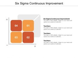 Six Sigma Continuous Improvement Ppt Powerpoint Presentation Ideas Outfit Cpb