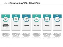 Six Sigma Deployment Roadmap Ppt Powerpoint Presentation Outline Graphics Design Cpb