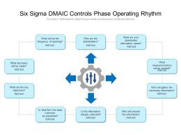 Six Sigma DMAIC Controls Phase Operating Rhythm