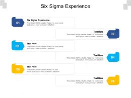 Six Sigma Experience Ppt Powerpoint Presentation File Guidelines Cpb