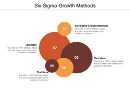 Six Sigma Growth Methods Ppt Powerpoint Presentation Inspiration Diagrams Cpb