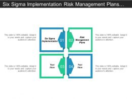 Six Sigma Implementation Risk Management Plans Inventory Management Cpb