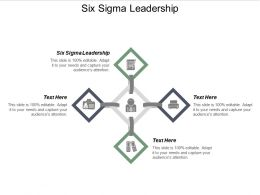 Six Sigma Leadership Ppt Powerpoint Presentation File Example Cpb