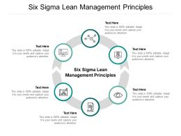 Six Sigma Lean Management Principles Ppt Powerpoint Presentation Pictures Show Cpb