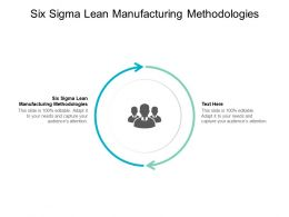Six Sigma Lean Manufacturing Methodologies Ppt Powerpoint Model Cpb