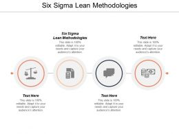 Six Sigma Lean Methodologies Ppt Powerpoint Presentation Summary Graphics Cpb