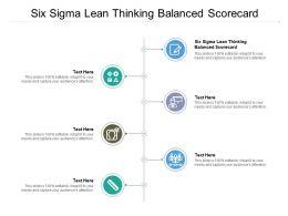 Six Sigma Lean Thinking Balanced Scorecard Ppt Powerpoint Presentation Portfolio Cpb