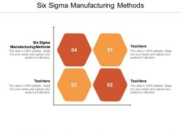 Six Sigma Manufacturing Methods Ppt Powerpoint Presentation Styles Templates Cpb