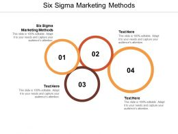 Six Sigma Marketing Methods Ppt Powerpoint Presentation Icon Format Cpb