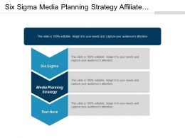 Six Sigma Media Planning Strategy Affiliate Marketing Performance Improvement Cpb