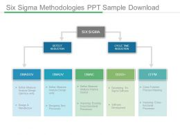 Six Sigma Methodologies Ppt Sample Download