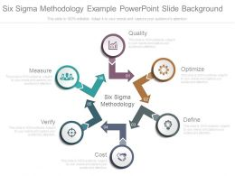 Six Sigma Methodology Example Powerpoint Slide Background