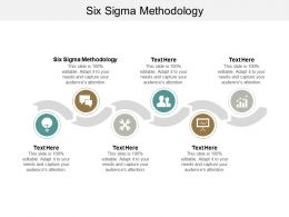 Six Sigma Methodology Ppt Powerpoint Presentation Ideas Portrait Cpb