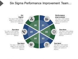 six_sigma_performance_improvement_team_development_segmentation_marketing_cpb_Slide01