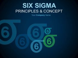 Six Sigma Principles And Concepts PowerPoint Presentation With Slides