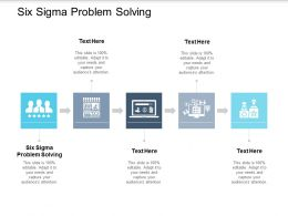 Six Sigma Problem Solving Ppt Powerpoint Presentation Inspiration Icon Cpb