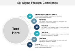 Six Sigma Process Compliance Ppt Powerpoint Presentation Model Example Cpb