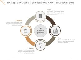 Six Sigma Process Cycle Efficiency Ppt Slide Examples