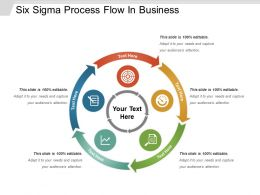 Six Sigma Process Flow In Business Powerpoint Slide Templates