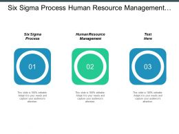 Six Sigma Process Human Resource Management Workflow Diagram Cpb